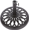 Cast Iron Umbrella Base 17.7 Inch Diameter by Trademark Innovations (Black)