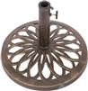 Cast Iron Umbrella Base 17.7 Inch Diameter by Trademark Innovations (Bronze)