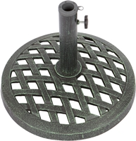 Cast Iron Umbrella Base 17.7 Inch Diameter by Trademark Innovations