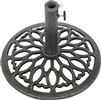 Cast Iron Umbrella Base -15.7 Inch Diameter by Trademark Innovations