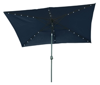 10' x 6.5' Rectangular Solar Powered LED Lighted Patio Umbrella by Trademark Innovations (Blue)
