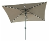10' x 6.5' Rectangular Solar Powered LED Lighted Patio Umbrella by Trademark Innovations
