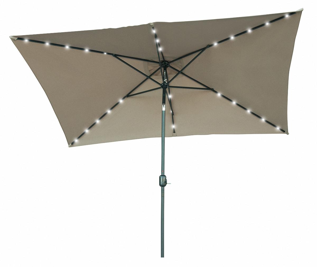 10 39 x 6 5 39 rectangular solar powered led lighted patio umbrella by. Black Bedroom Furniture Sets. Home Design Ideas