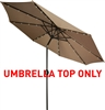 Replacement Patio Umbrella Top for 10' LED Patio Umbrella by Trademark Innovations
