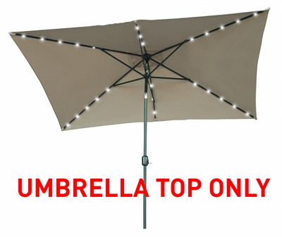 Replacement Patio Umbrella Top for 10' x 6.5' Rectangular Patio Umbrella by Trademark Innovations