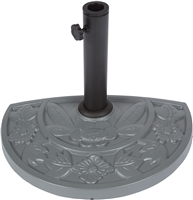 Umbrella Half Base For Half Umbrella Sturdy Resin By Trademark Innovations (Gray) (Gray)