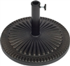 "Starburst Design Resin Umbrella Base 19"" Diameter in Bronze Finish By Trademark Innovations"
