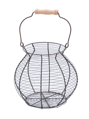 Wire Egg Basket Vintage Style By Trademark Innovations