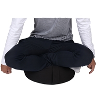 Cotton Yoga Meditation Round Cushion with Carry Handle by Trademark Innovations (Black)