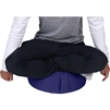 Cotton Yoga Meditation Round Cushion with Carry Handle by Trademark Innovations (Blue)