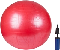 Trademark Innovations 65cm (25.5 Inches) Inflatable Extra Thick Yoga Ball (RED)