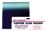 "Presensitized Copper Clad Boards Positive (1 oz copper), Single Sided, 1/16"", 4""x6"""