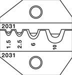 PA2031 DIE 22-8 AWG NON-INSULATED TERMINALS
