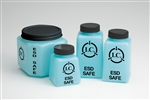 6oz Square Bottle with lid, Static Safe Dissipative Bottles