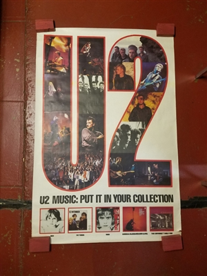 "U2 ""U2 MUSIC: PUT IT IN YOUR COLLECTION"" ORIGINAL 41"" X 59"" PROMOTIONAL POSTER"