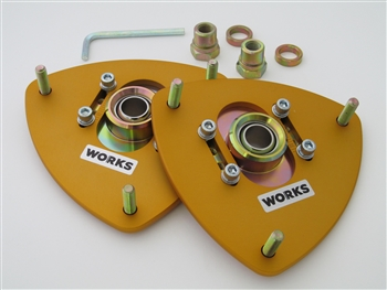 WORKS Adjustable Camber Plates (Front) - BRZ / FRS / 86