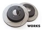 WORKS Slotted Rotors - Rear Evo X