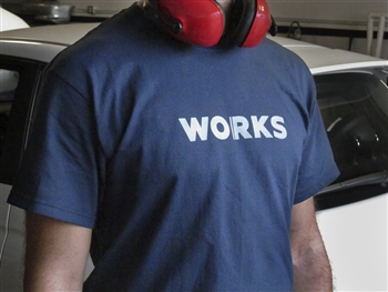 WORKS Motorsports T-Shirt - White/Navy