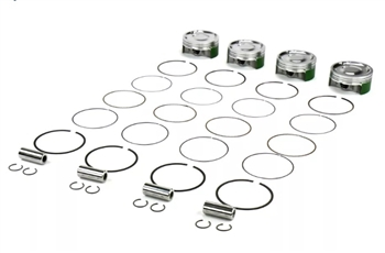 Cosworth Forged Pistons with Pins, clips, and Rings. 92mm 8.0:1