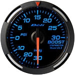 Defi Blue Red White Racer Gauge - Boost