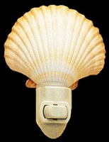 deep scallop night light