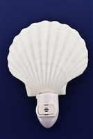 white scallop night light automatic
