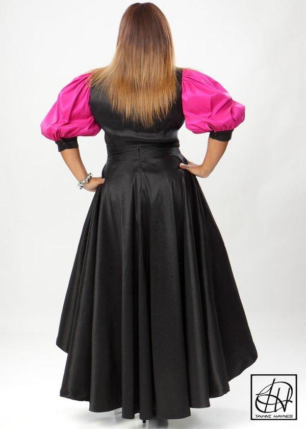 Asymmetrical High Waist Swing Skirt