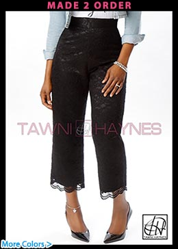 Tawni Haynes Lace Cocktail Pants