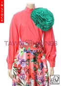 Tawni Haynes In-Stock Stretch Cotton Circle Flower Blouse