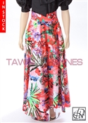 Tawni Haynes In-Stock Floral Stretch Cotton High Waist Swing Skirt