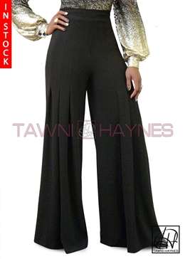 Tawni Haynes In-Stock Black Pleated Pants