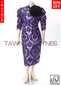 In Stock! Rushed Sleeve Flower Pencil Dress