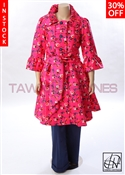 Tawni Haynes In-Stock Rose Jacquard Trench Dress