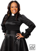 Ruffle Cuff Clergy Blouse