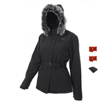 ActiVHeat Womens Heated  Soft-Shell Hooded Jacket & heated glove liners