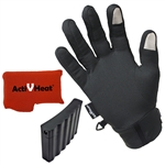 Touchscreen Weightless Battery Heated Glove Liners by ActiVHeat