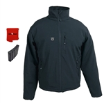 ActiVHeat Men's RECHARGEABLE TurboHeat Insulated Soft-Shell Jacket - All Day Bundle