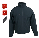 ActiVHeat Men's RECHARGEABLE TurboHeat Insulated Soft-Shell Jacket - All Day MAX Bundle: