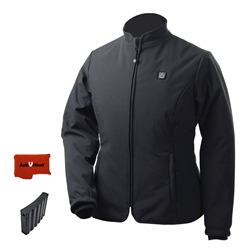 ActiVHeat Women's RECHARGEABLE TurboHeat Insulated Soft-Shell Jacket - Bundle