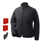 ActiVHeat Women's RECHARGEABLE TurboHeat Insulated Soft-Shell Jacket - All Day MAX Bundle: