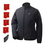 ActiVHeat Women's RECHARGEABLE TurboHeat Insulated Soft-Shell Jacket - All Day EXTREME Bundle: