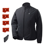 ActiVHeat Women's RECHARGEABLE TurboHeat Insulated Soft-Shell Jacket - EXTREME Bundle