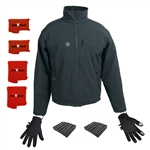 ActiVHeat Men's TurboHeat Jacket + Heated Glove Liners Everlasting EXTREME Bundle