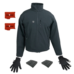 ActiVHeat Men's TurboHeat Jacket + Heated Glove Liners All Day Ultra Bundle
