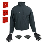 ActiVHeat Men's TurboHeat Jacket + Heated Glove Liners All Day Elite Bundle