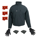 ActiVHeat Men's TurboHeat Jacket + Heated Glove Liners All Day Endurance Bundle