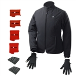 ActiVHeat Women's TurboHeat Jacket + Heated Glove Liners Everlasting EXTREME Bundle