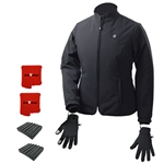 ActiVHeat Women's TurboHeat Jacket + Heated Glove Liners All Day Dynamic Bundle