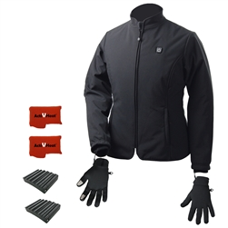 ActiVHeat Women's TurboHeat Jacket + Heated Glove Liners All Day Ultra Bundle
