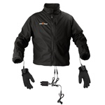 12V Dual-Wattage 65W/105W Heated Jacket Liner, Glove Liner & Dual Portable Controller Bundle